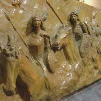 Valkyries relief detail