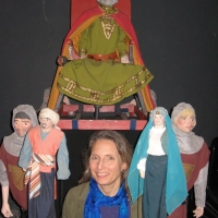 Beckie with Tia Norica puppets